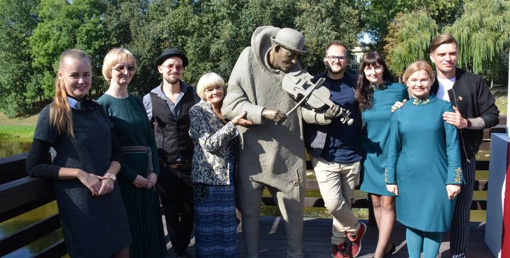 "Pasvalys Area Museum project ""Interactive Sculpture - Old Bridge Musician Antanas"" was..."